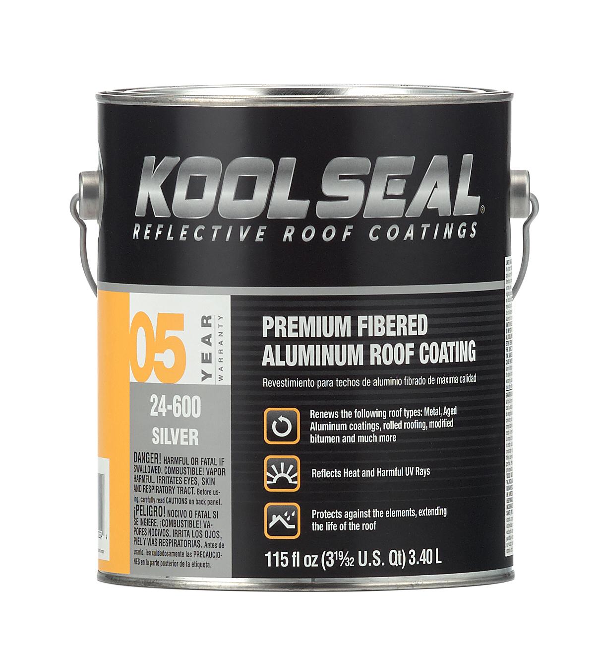 Premium Fibered Aluminum Roof Coating Koolseal