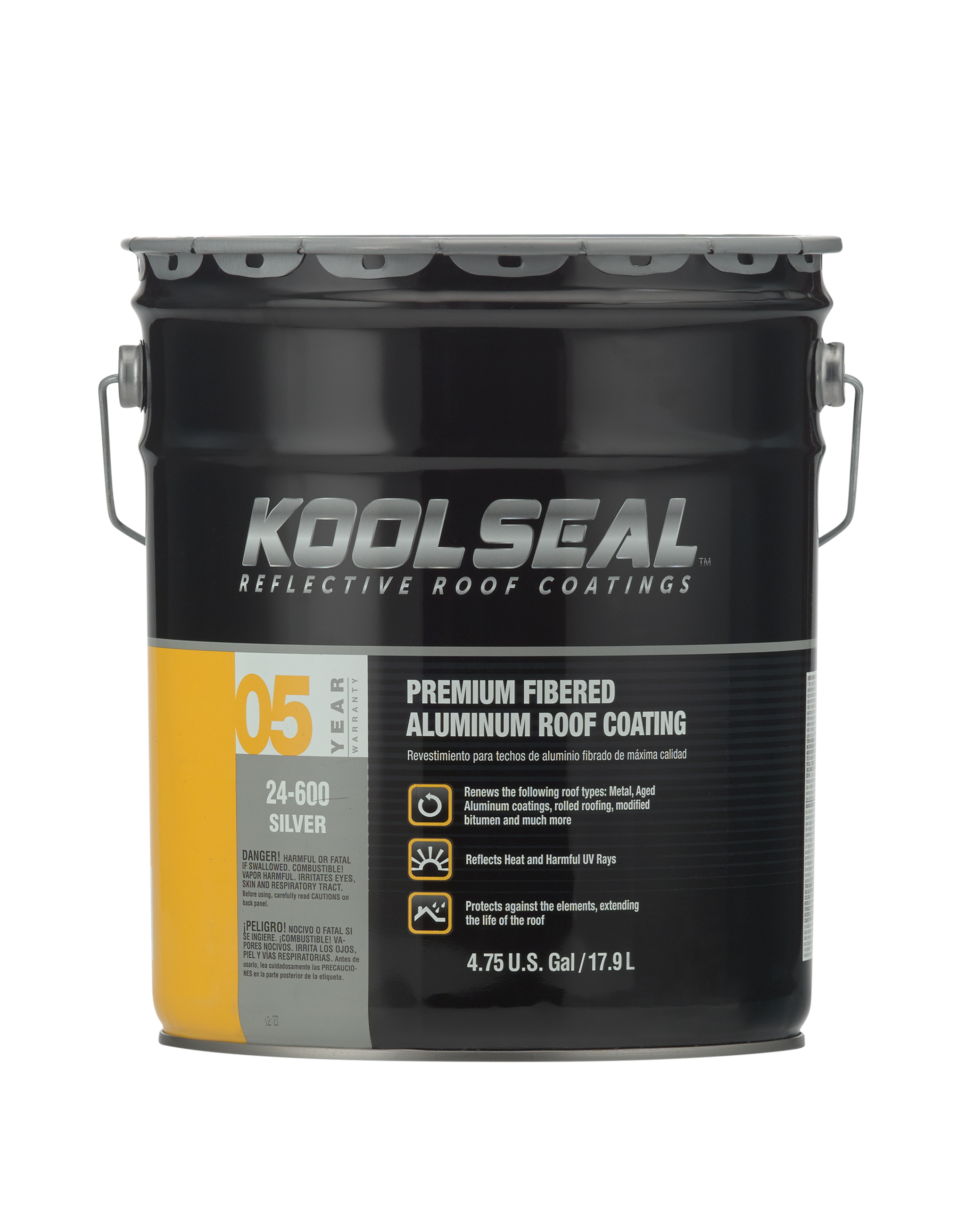 ... Fibered Aluminum Roof Coating.  Ks_24600_premium_fibered_aluminum_5gal_5yr_main