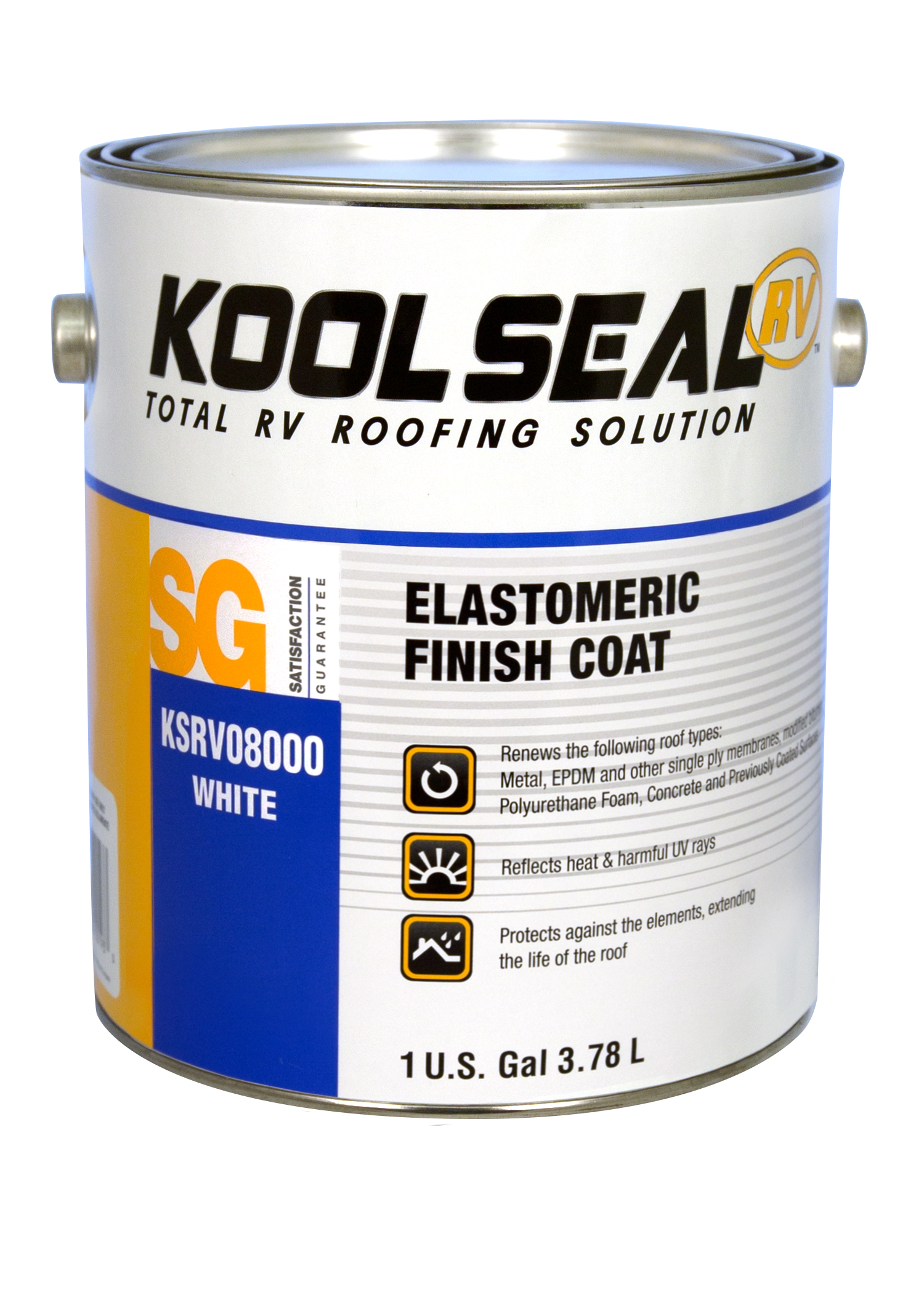 elastomeric rv white roof coating koolseal